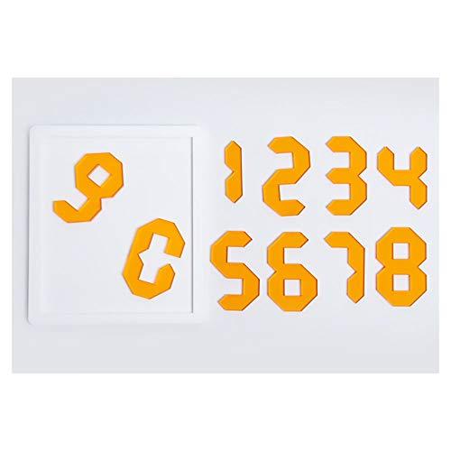 Puzzle Número De Juegos Super IQ Challenge Jigsaw, Tangram 10 Piezas De Rompecabezas para Adultos Super Difícil Autolesionamiento Brain-Buring Game 0114