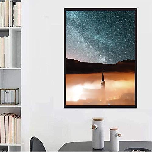 Puzzle Starry Night Sky Rodeado De Nubes De Estrellas Jigsaw 500-6000 Piezas Desafiantes Y Familiares Familiares Diversión Actividad Interior Master Challenge 0130