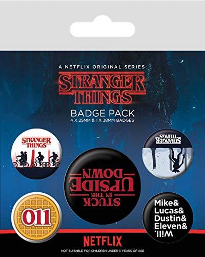 Pyramid Pack Chapas Stranger Things Logo, Multicolor (BP80656)