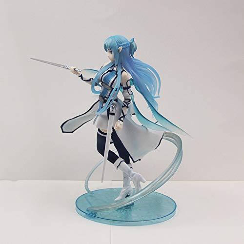 QTRT Sword Art Online Yuuki Asuna Elfos de Agua 1/7 de Caracteres PVC Juego Animado de la Historieta Modelo Estatua Figura de Juguete coleccionables Decoraciones Regalos Favorita por Fan del Animado