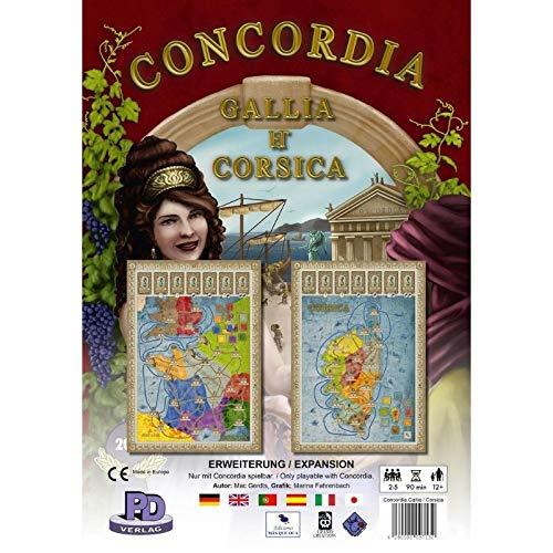 Rio Grande Games- Gallia y Corsica: Concordia Exp, Multicolor (RIO541)