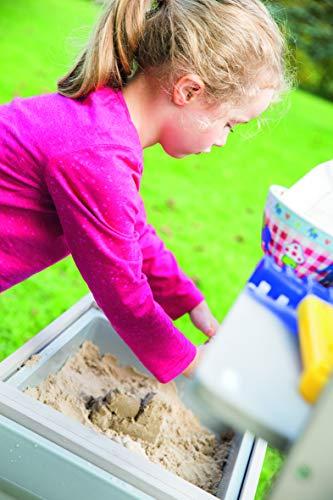 roba Cocina de jardín para niños «Fun» Outdoor +, de madera, con cubierta extraíble, 2 bandejas y estante, mesa de trabajo y cocina de juegos para exteriores, resistente a la intemperie