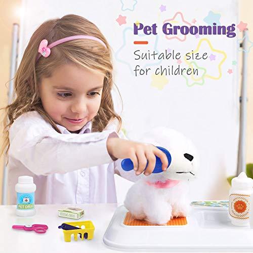 Sanlebi Juego de Cuidado de Mascotas Veterinaria Maletin Juguete Juegos de rol Regalos para 3 Años Niños Niñas