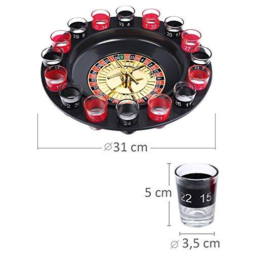 Schramm® Juego de Beber Ruleta Incl. Embalaje de Regalo Juego de Beber para Adultos