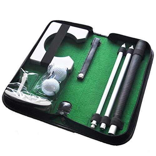 Set Golf para Casa y Oficina con Putter · Entrenamiento Golf con Palos de Golf Plegables, Hoyo, 2 Bolas y Bolsa de Transporte con cremallera · Mejore su Handicap con este fantástico Juego de Golf