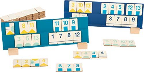 Small Foot 11716 Juego de colocación de números Rummy, de Madera, Juego de Mesa, Colores Modernos. a Partir de 7 años