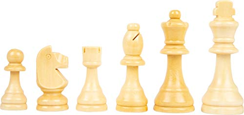 Small Foot 11784 Ajedrez y Damas XL de Madera, small foot, 2 Jugadores, 2 Juegos de Mesa Extra Grandes, a Partir de los 6 los años