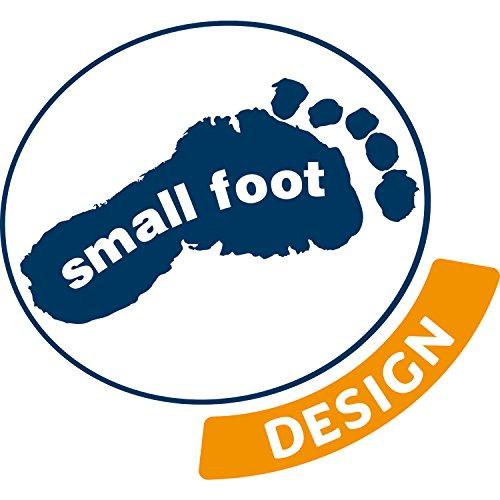 small foot company- Ludo Isla Pirata de Madera Natural FSC 100% certificada, tableros de Juego Plegables de Diferentes tamaños. Juguetes, Multicolor (Small Foot by Legler 10951)