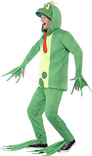 Smiffys 43389, Traje de Príncipe Rana, Body con Guantes Adjuntos, Pantalones, Diadema y Cubrepies, Verde, Medium