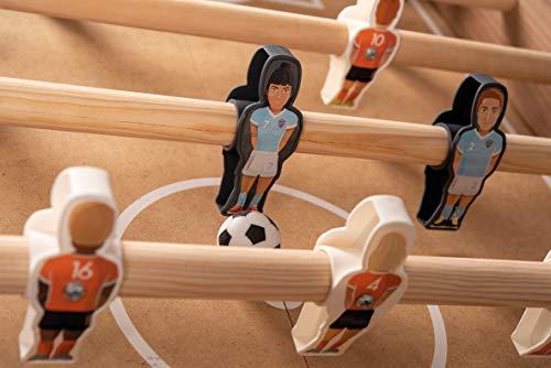 Smoby - Futbolín Click y Goal sistema clic para fácil montaje, equipos mixtos, incluye 2 bolas (Smoby 620700)