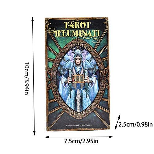 Soul hill Tarot, Tarot Illuminati 78 Kit de Cartas del Tarot El Trabajo de su Gran Regalo Guía de Placa Tarot luz adivinación Principiante Juego de Cartas zcaqtajro