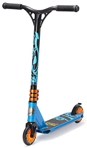 STAR SCOOTER Patinete Patineta Scooter Freestyle Mini Stuntscooter para niños y niñas a Partir de 5 años | 110 mm Edición Mini | Azul
