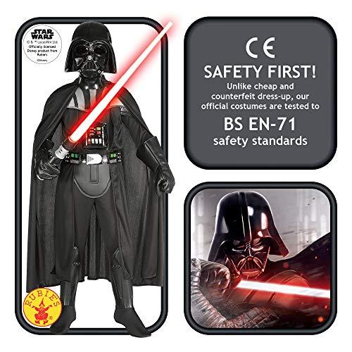 Star Wars - Disfraz de Darth Vader para niños, talla M (5-7 años) (Rubies 882014-M)