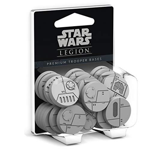 Star Wars FFGSWL28 Legion-Premium Trooper Bases, Multicolor