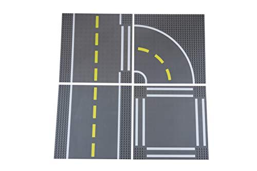 Strictly Briks - Bases apilables para Construir - para Hacer Carreteras, Ciudades y garajes - 100 % Compatible con Todas Las Grandes Marcas - Pack Variado - 25,5 x 25,5 cm