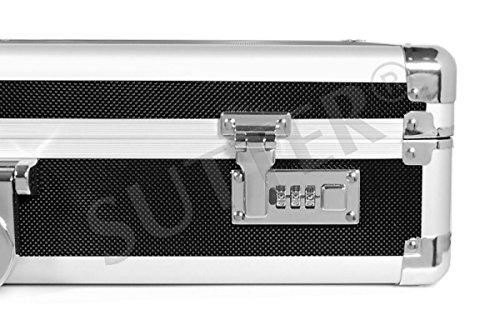 SUTTER Maletín para Pistola de Aluminio/Maletín para Arma Corta AL-820 Top ALU Maletín para Arma y maletín para Pistolas - Funda para Armas