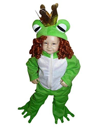 SY12 Tamaño 12-18 meses rana príncipe traje, traje de rana para los niños para carnaval