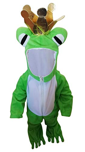 SY12 Tamaño 18-24 meses rana príncipe traje, traje de rana para los niños para carnaval