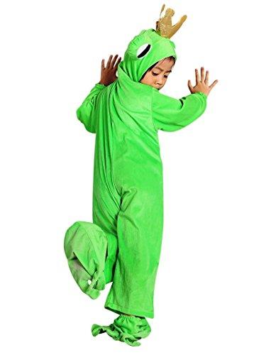SY12 Tamaño 3-4 años rana príncipe traje, traje de rana para los niños para carnaval