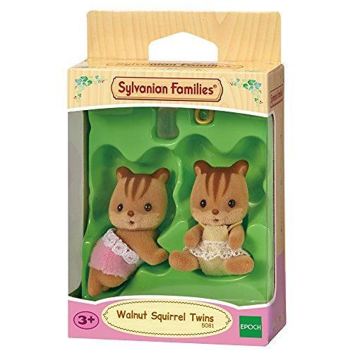 Sylvanian Families- Walnut Squirrel Twins Mini muñecas y Accesorios, Multicolor (Epoch para Imaginar 5081)
