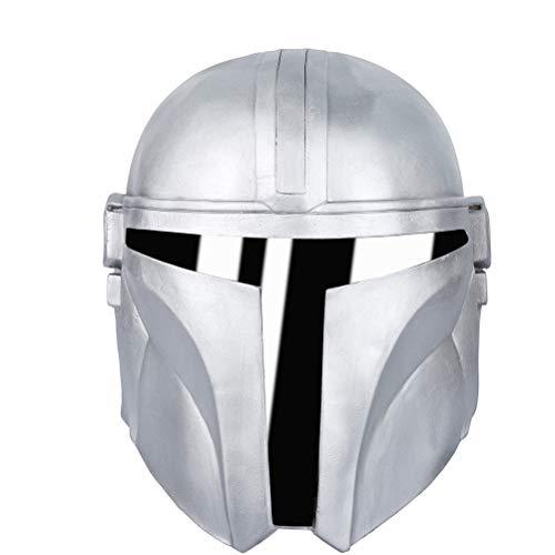taianle Casco Mandaloriano Máscara de Disfraz de Cosplay de Halloween Máscara de Látex de Cara Completa Máscara de Juego de rol para Fiesta de Adultos Prop
