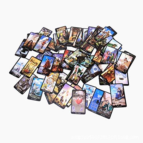 Tarot Card, 78pcs Solitaire Witch Tarot Family Party Juego de solitario Divertido versión en inglés Juegos de cartas de Tarot, Juego de cartas de pronóstico de destino de adivinación universal