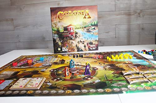 TCG Factory COLOMA Juego de mesa en español para 2 a 4 jugadores; para adultos a partir de 14 años de edad. Viaja al salvaje Oeste americano con este eurogame