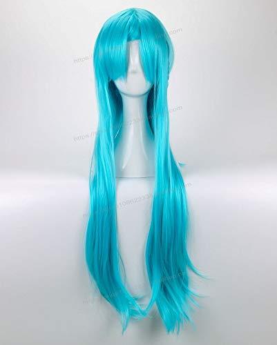 TCYLZ Anime Cosplay Sword Art Online Yuuki Asuna Blue Hairwear Cosplay Halloween Juego de roles Azul