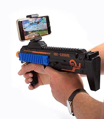 The Accessory Outlet AR Juego y acción de Disparo Pistola–Realidad Aumentada (Incluye iOS/Android Enlace para AR 15-Games-in-1Descarga)
