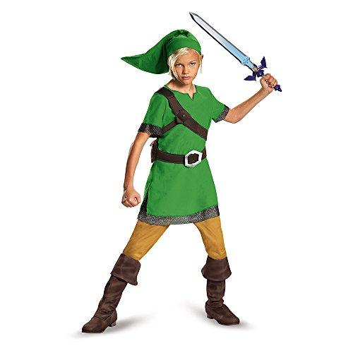 The Legend of Zelda DISK85718L - Disfraz de Nintendo Link para niños, pequeño, S