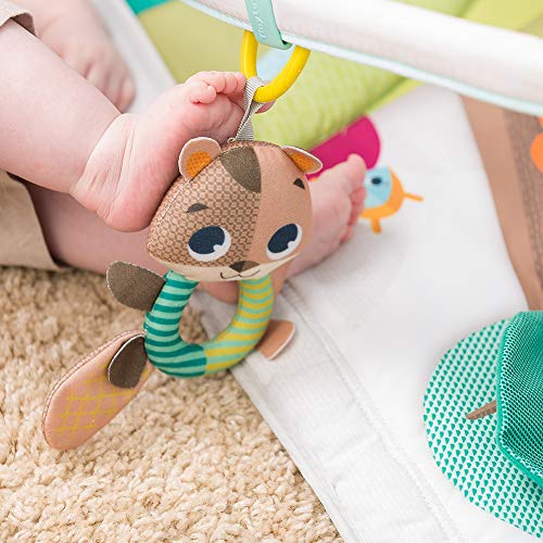 Tiny Love Gymini Deluxe Gimnasio de actividade, Manta musical de juegos para bebés con 18 actividades para el desarrollo y juguetes electrónicos para llevar, Into the Forest