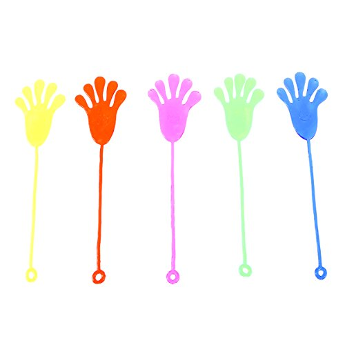 TOYMYTOY Sticky Sticky Fingers manos escalada Palmas pegajosas jalea manos juguete 12pcs