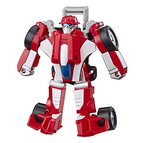 Transformers Playskool Rescue Bots Academy – Robot de Emergencia Heatwave F1 de 11 cm – Juguete transformable 2 en 1