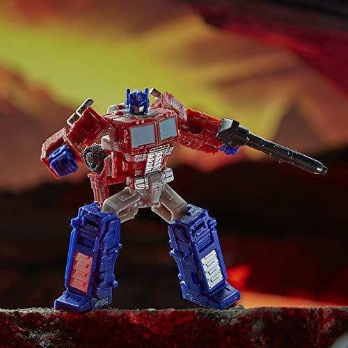 Transformers Toys Generations War for Cybertron: Kingdom Core Class WFC-K1 Optimus Prime Figura de acción para niños a Partir de 8 años, 3.5 Pulgadas