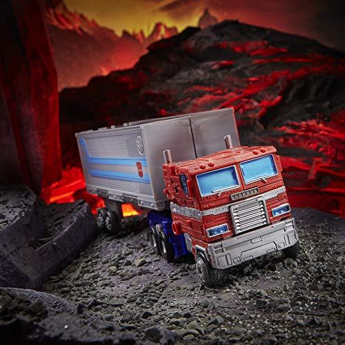 Transformers Toys Generations War for Cybertron: Kingdom Leader WFC-K11 Optimus Prime Figura de acción para niños de 8 años en adelante, 7 Pulgadas (Hasbro F0699)