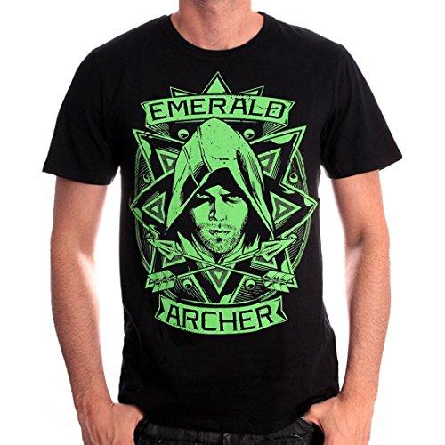 Tshirt Homme Arrow - Emerald Archer - Legend Icon - L, Noir