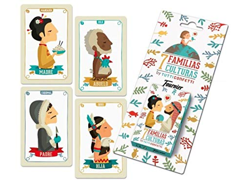 Tutti Confetti- Familias de 7 Países Baraja de Cartas Educativa Infantil (Naipes Heraclio Fournier 1034797)