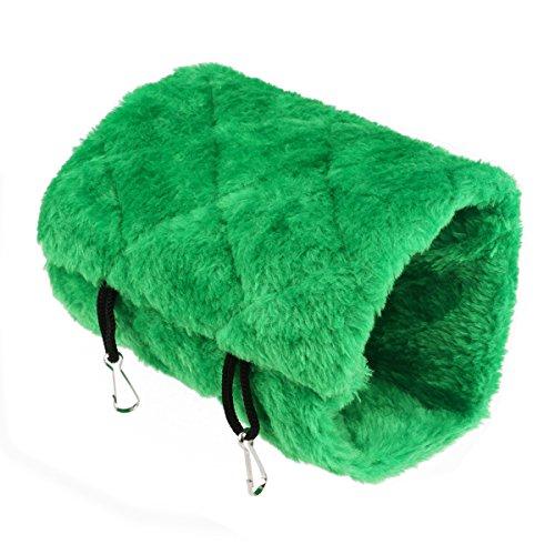 UEETEK Pájaro animal felpa Snuggle Hamaca colgante Cueva de Snuggle Happy Hut Hideaway - tamaño S (verde)