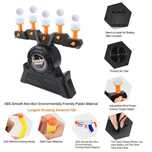 Ulikey Juegos Tiro Blanco Flotante, Juegos de Disparos Hover Shoot Tenis de Mesa Objetivos de Bola Flotante de Tiro eléctricos Disparar, Juego de Tiro Suspensión de la Bola Voladora