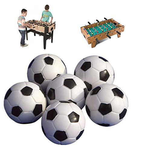 ULTNICE Pelotas para Futbolín Bolas del balompié de la tabla de 6PCS 32mm negro/bola blanca