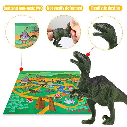 Vanplay Juego de Dinosaurios, Figura de Dinosaurio 52 Piezas Fiestas de cumpleaños Educativo Realista Juguetes Niños 3 4 5 6 7 Años