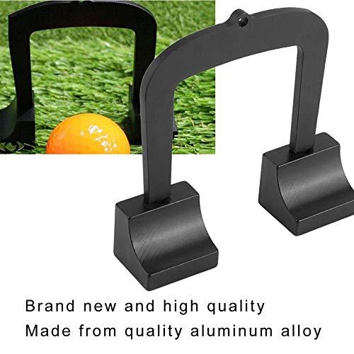 VGBEY Kit de Golf Putter, aleación de Aluminio Golf Puting Aim Gate Golf Target Kit 3 Goal Gate con 2 Bases, Bolsa de Almacenamiento, Cinta métrica