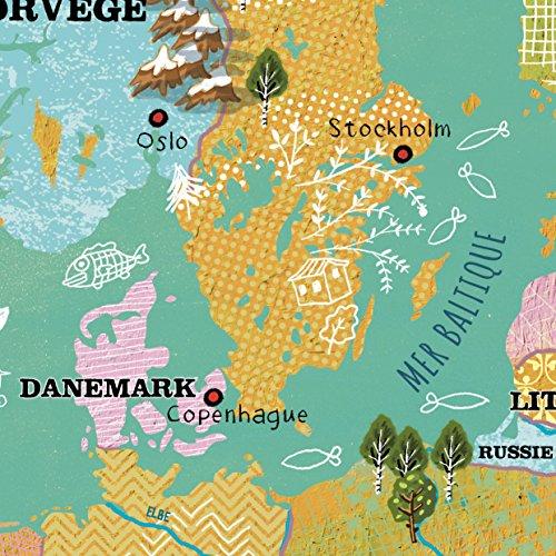Vilac 2727 - Mapa de Europa magnética de Madera