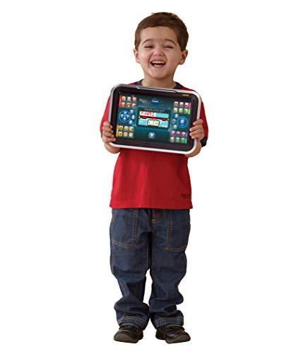 VTech Genio Little App, Juguete para aprender en casa, ordenador tablet educativo para jugar en dos modos distintos, 80 actividades que enseñan letras, inglés, matemáticas, ciencias, negro (80-155522)