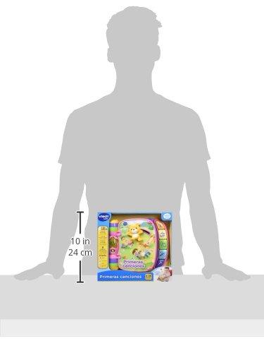 VTech - Primeras canciones, libro interactivo para bebé +6 meses con las canciones infantiles más populares, aprende instrumentos, sonidos y notas musicales, color rosa (80-166757)