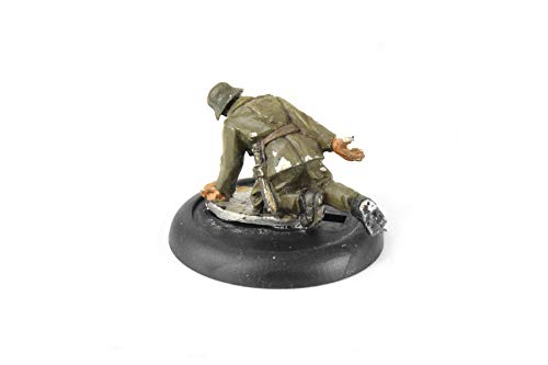 War World Gaming - Peanas Redondas de plástico 30mm con Labio y Ranura (Elige cantidad) - Wargames Históricos, Wargaming, Base, Escenografía, Miniaturas, Dioramas, Figuras, RPG