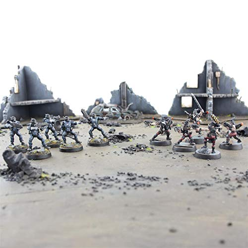 War World Gaming - Renegados Sci-Fi - Set Completo - 28mm Heroica Wargame Figuras Rebeldes Minis Wargaming Futuristas Escaramuza Minis Postapocalítico