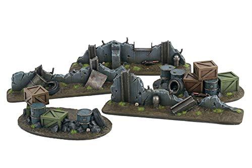 War World Gaming War-Torn City Edificios multinivel en ruinas y Material escenográfico – Escala 28mm/Heroica, Sci-Fi, Wargame Futurista, Miniaturas, Apocalipsis Zombi, Necromunda, Wargaming