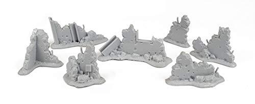 War World GamingWar-Torn City -Kit Escombros 1 – Escala 28mm/Heroica, Sci-Fi, Wargame Futurista, Miniaturas, Apocalipsis Zombi, Necromunda, Wargaming,