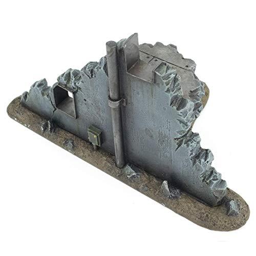 War World Gaming War-Torn City - Sección Central de Edificio Destruido - 28mm, Escala Heroica, Sci-Fi, Wargaming, Modelismo, Dioramas, Zombis, Post Apocalíptico